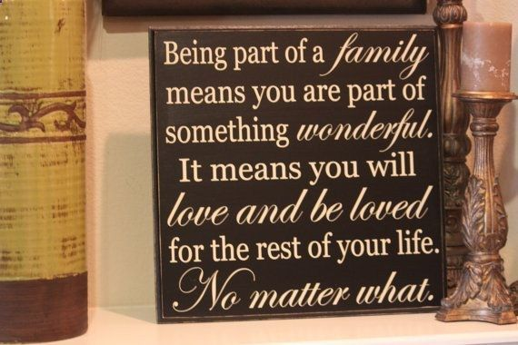 12x12 Family quote board by PersonallyPoshDesign on Etsy, $28.00 Something like this for our collage wall-family room