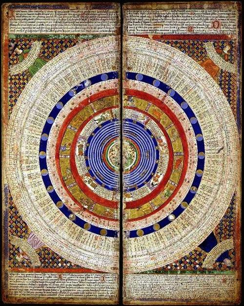 illustration : carte médiévale, cercle
