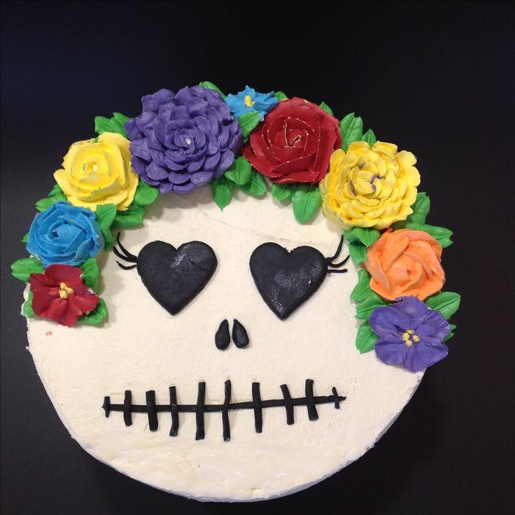 Swiss meringue buttercream flowers and vanilla cake