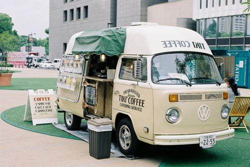 Tiki coffee van, kombi, sandwich board