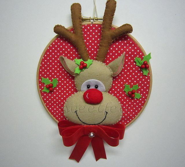 ♥♥♥ Rudolph... by sweetfelt  ideias em feltro, via Flickr