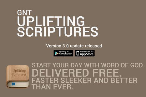 Uplifting Scriptures - GNT– уменьшенный скриншот