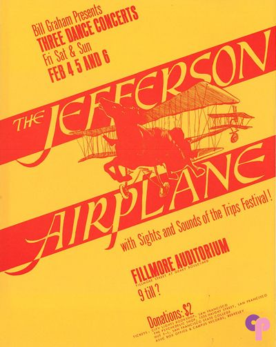 Jefferson Airplane at Fillmore Auditorium 2/4-6/66 Artist Peter Bailey