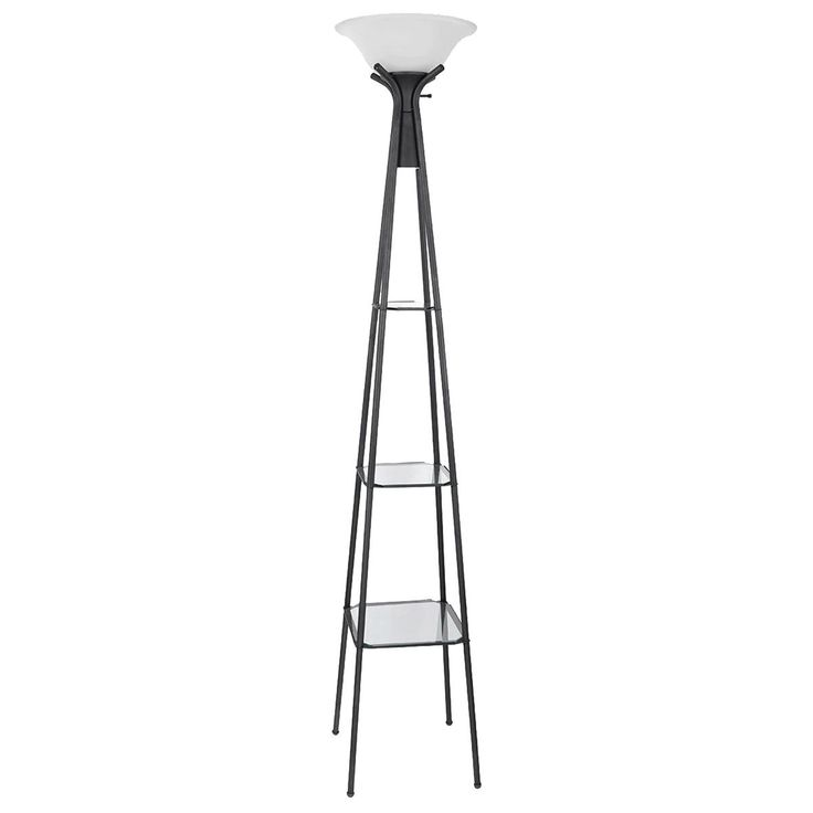 Pacific Landing Torchiere Floor Lamp With Shelf Storage