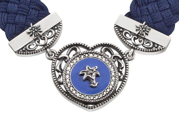 Edelzeit Halsband Enzian Blau Stoff Edelstahl Halskette EZN05  http://www.uhren-versand-herne.de/edelzeit-halsband-enzian-blau-stoff-edelstahl-halskette-ezn05.html
