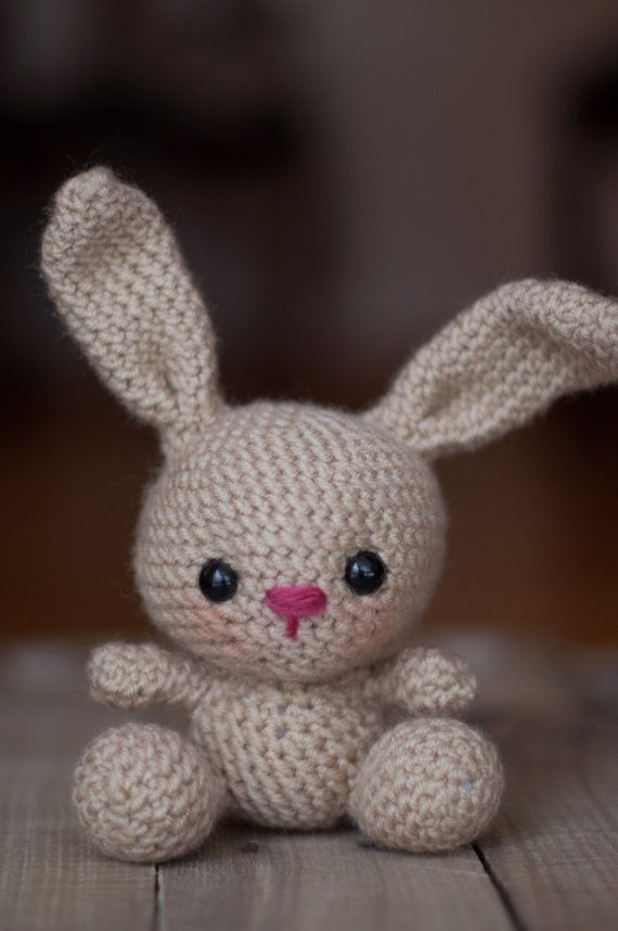 PATTERN: Crochet bunny pattern - amigurumi rabbit - woodland animal - stuffed toy tutorial - baby toy - nursery - PDF crochet pattern