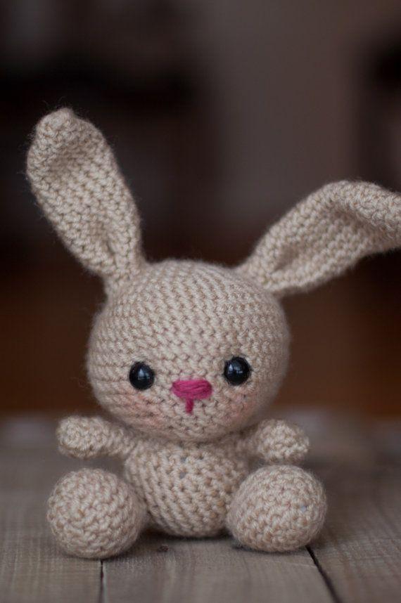 PATTERN: Crochet bunny pattern - amigurumi rabbit - woodland animal - stuffed toy tutorial - baby toy - nursery - PDF crochet pattern