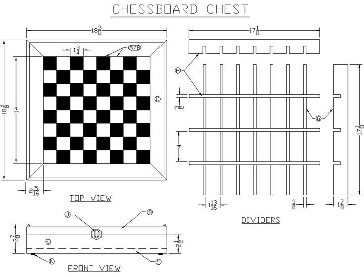 Chessboard Dimensions Build A Chessboard Chest From Lee