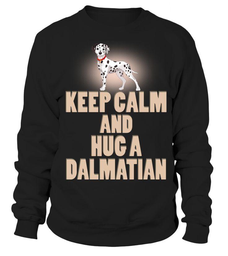 Zachowaj Spokój Przytulić Za Dalmatian Pies  Funny Dalmatian T-shirt, Best Dalmatian T-shirt