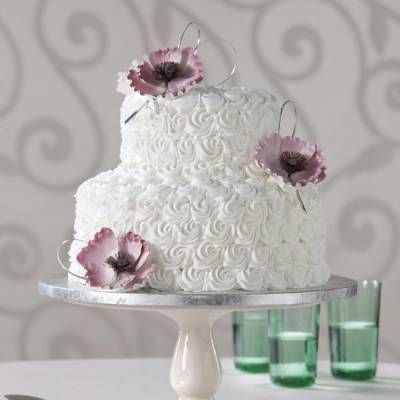 This was my wedding cake and it looked amazing!!! You do not have to spend a fortune on a cake. Beautiful Publix Cake. Fresh Flowers on top would be perfect!