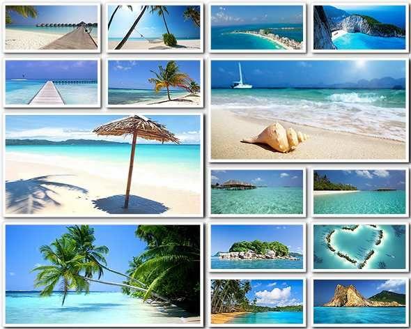 Красивые пляжи, море, океан - фото высокого разрешения (FullHD+)