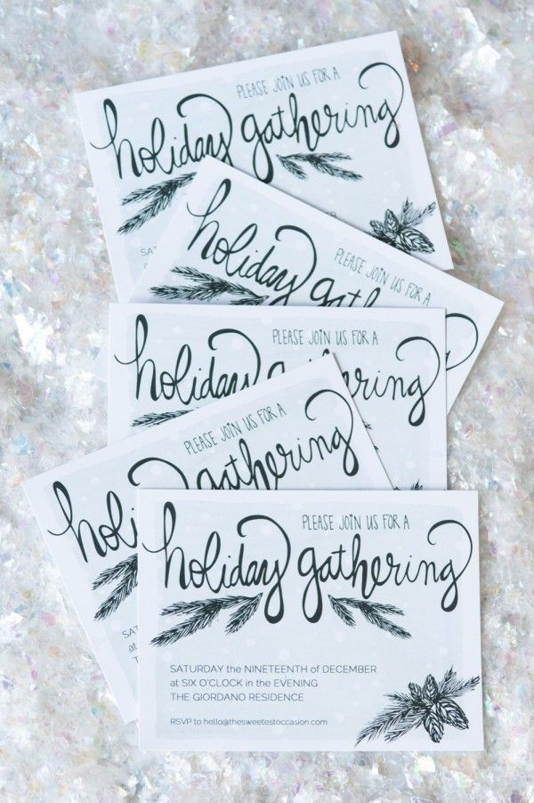 Printable Holiday Party Invitations