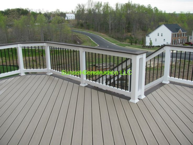 Trex Transcends Deck Ropeswing Color With Vintage Lantern Border By  Www.outdoorescapesdeck.com