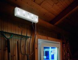 Binnenlamp op zonne energie - 10 Leds 2 standen | Bespaarbazaar.nl