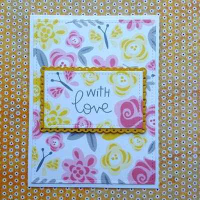 "A sympathy card made with the ""Fab Flowers"" stamp set from ""Lawn Fawn""."