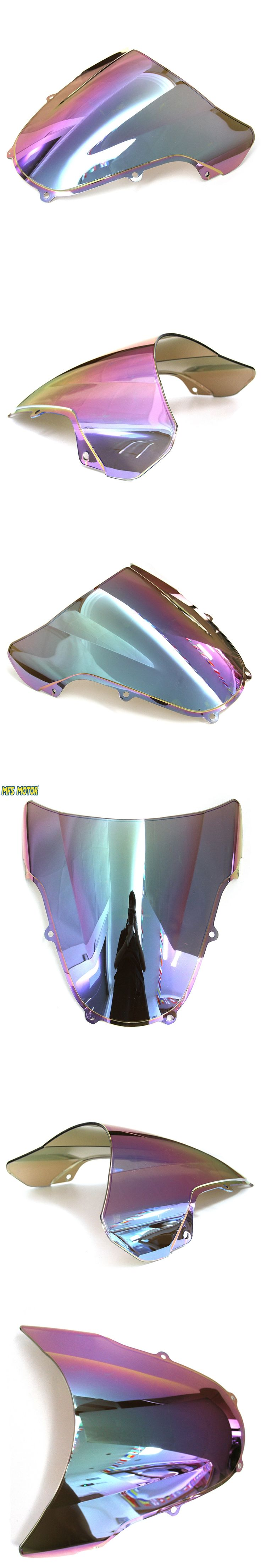 Adjustable Double Bubble Windshield Windscreen Variable Spoiler Panel For Suzuki GSXR 600/750 K1 2001 2002 2003 Light iridium