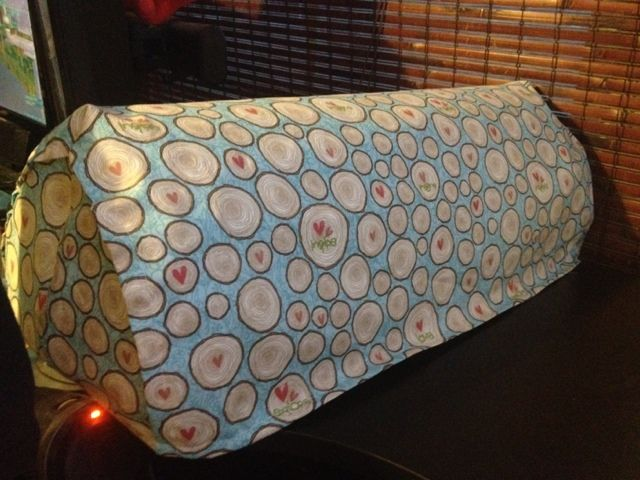 DIY Cricut Expression Dust Cover with photos of step by step instructions and link to free pattern