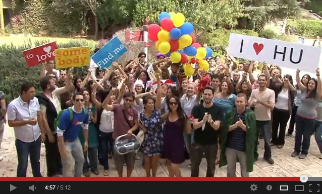 """They say that the spirit of the people of Israel is second to none, and that comes across loud & clear in this video.    Check out this lipdub from the students of Hebrew University of """"Somebody to Love"""" by Queen. (Okay, so they chose to use the Glee cover version. But hey, noone's perfect:)"""