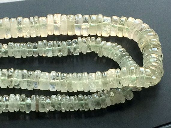 Green Amethyst Beads Green Amethyst Spacer Beads by gemsforjewels