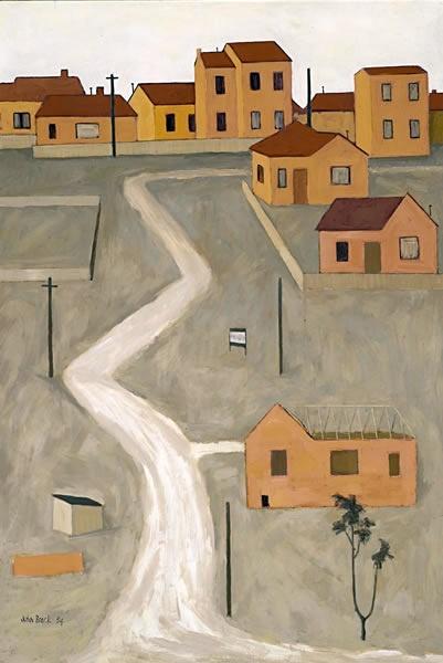 John Brack ~ The unmade road, 1954