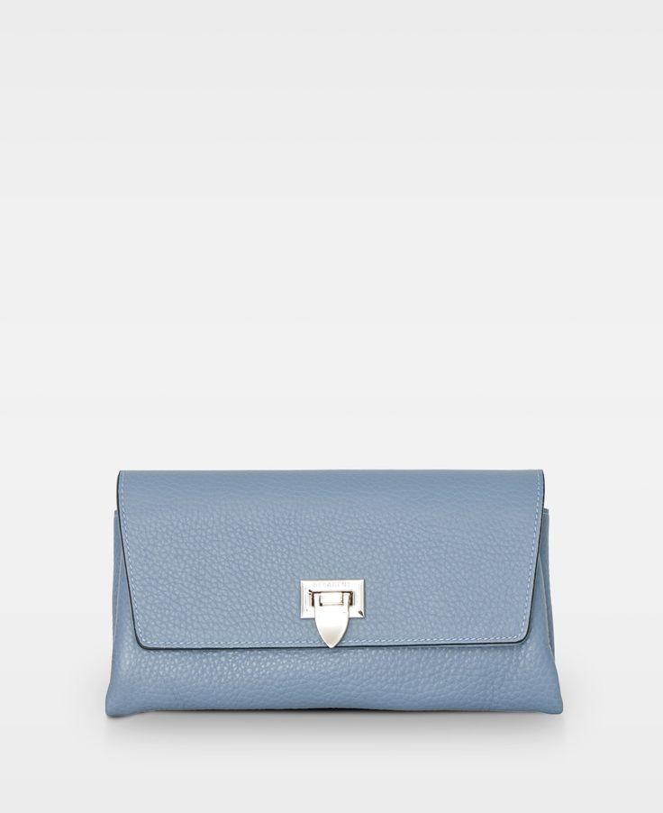 DECADENT Nora small clutch, dove blue