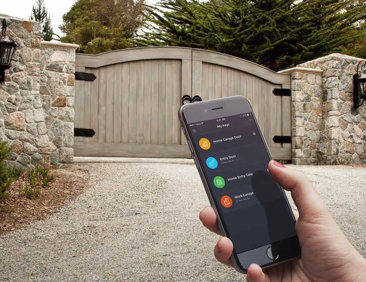 iBlue Smart Gate ////////////////////////// (gadgets, home gadgets, gate opener, hi tech, smart home tech, luxury home tech)