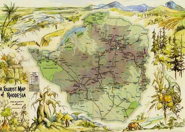 Tourist Map of Rhodesia