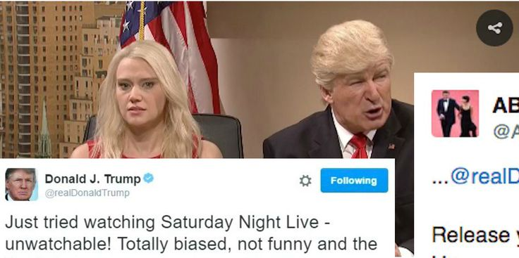 Alec Baldwin just responded to Trump's whining about his SNL skits with one PERFECT tweet
