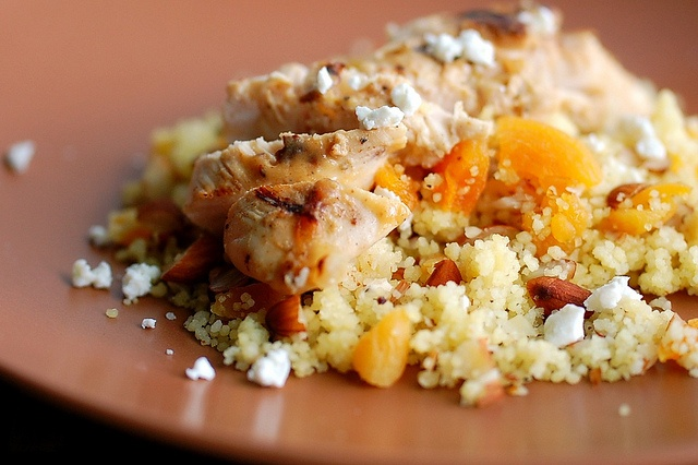 Apricot Ginger Glazed Chicken Almond Couscous featuring Saucy Mama ...
