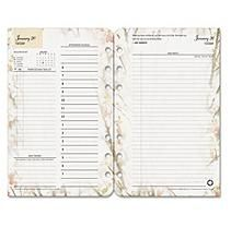 FranklinCovey® Blooms Dated Daily Planner Refill, January-December, 4 3/4 x 6 3/4, 2018