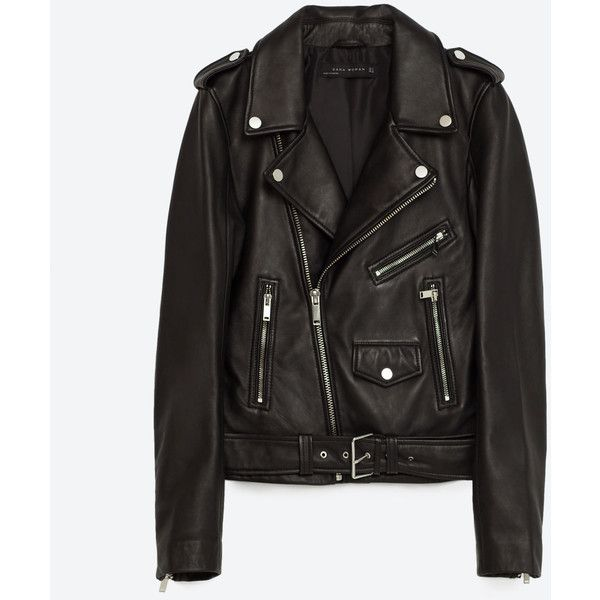 LEATHER JACKET - View All-LEATHER-WOMAN | ZARA United States ($145) ❤ liked on Polyvore featuring outerwear, jackets, leather jacket, tops, zara, genuine leather jackets, jakke, real leather jackets, leather jackets and 100 leather jacket