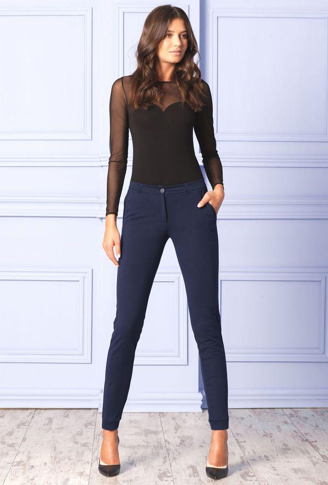 Pantalon moulant femme bleu marine qualité EU - Gatta Hajlin S M L XL