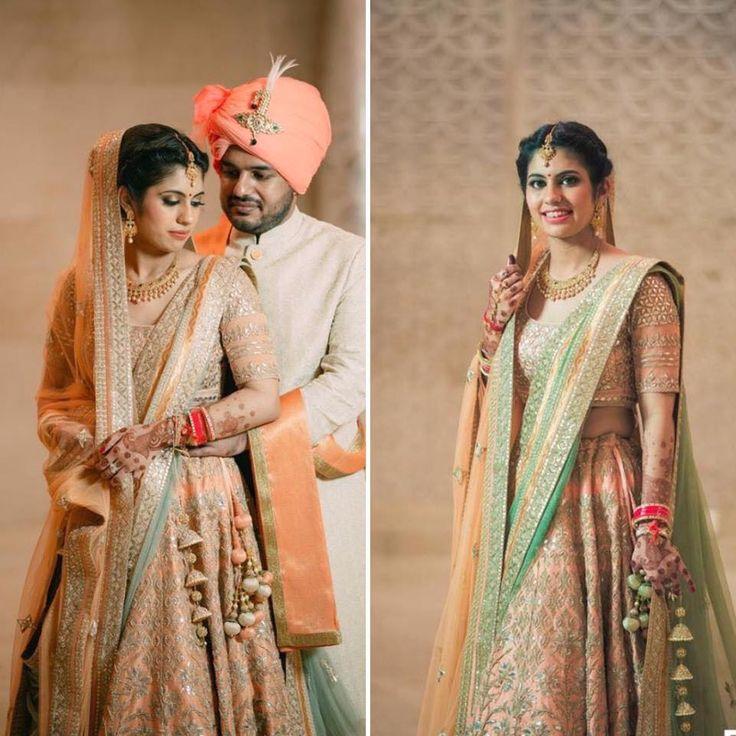 #HappyBride Mansi Dhingra shares her wedding memories in an #AnitaDongre #bridal ensemble.