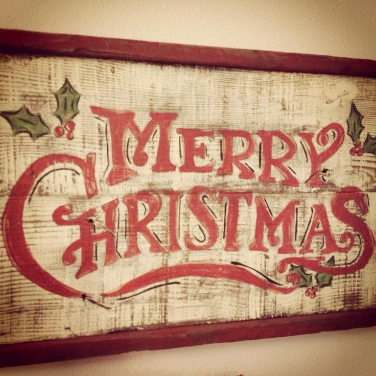 a whole bunch of beautiful christmas signs - Merry Christmas Wooden Sign