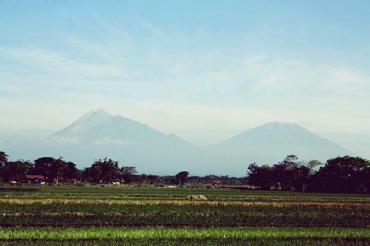 Merapi-Merbabu from Klaten, Indonesia