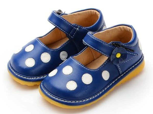 >> Click to Buy << girls squeaky shoes PU mary jane white dots walker shoes squeakers for kids 1-5 years boutique squeak navy red yellow chaussure  #Affiliate