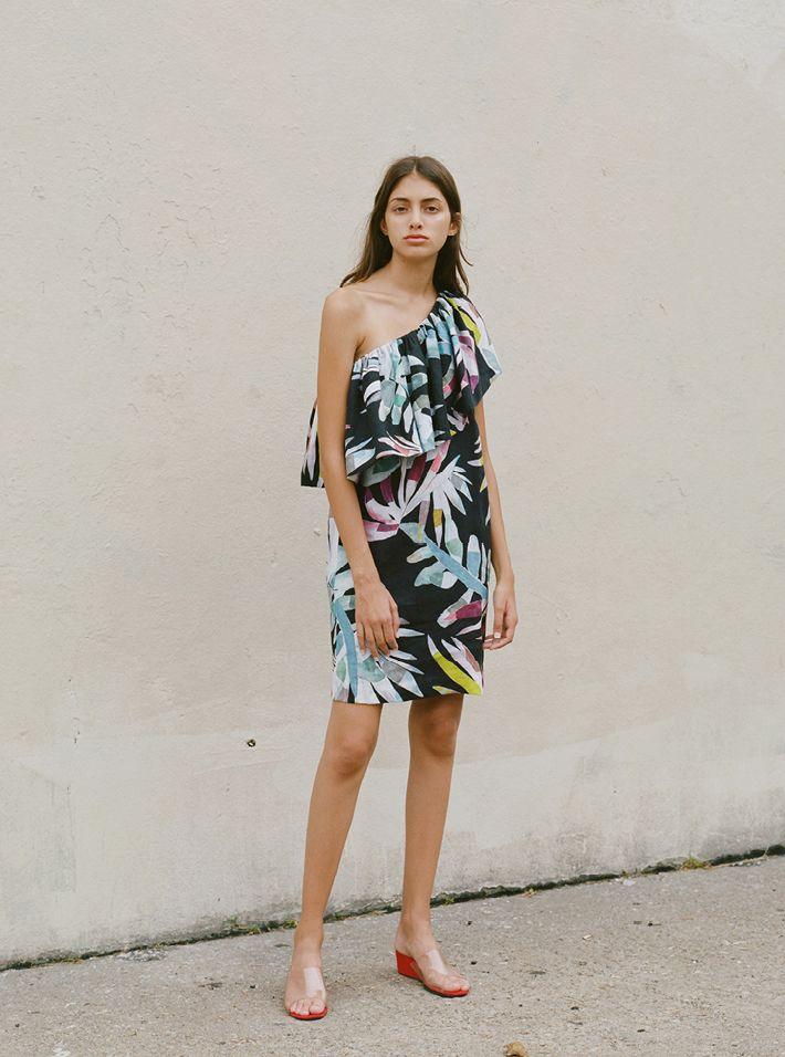 Mara Hoffman Mirror Embroidery Bustier Dress