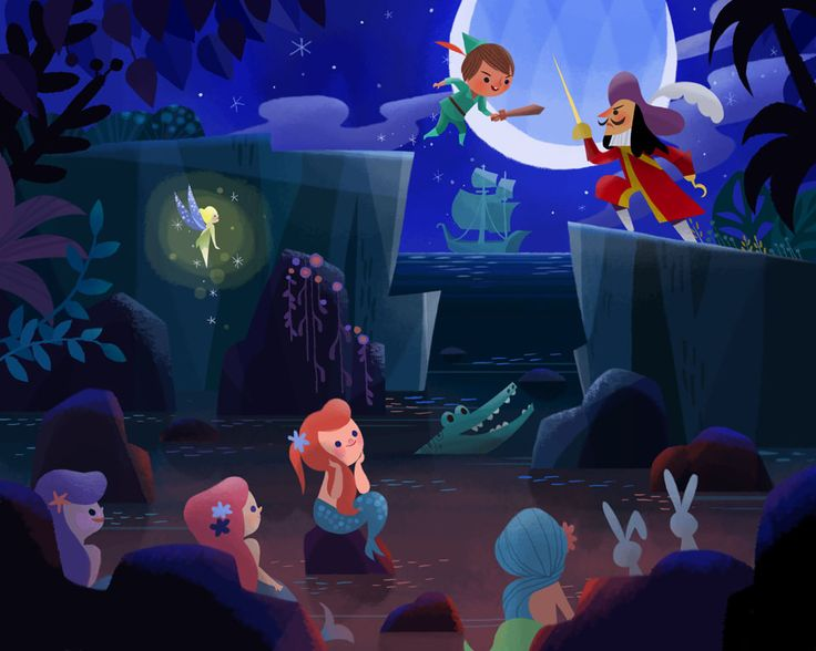 Peter Pan vs. Captain Hook by Joey Chou http://joeyart.blogspot.com/2012/12/peter-pan-vs-captain-hook.html