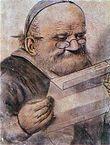 François Rabelais, portrait anonyme début 17°s. Son réquisitoire à l'encontre des théologiens de la Sorbonne et ses expressions crues, parfois obscènes, lui attirent les foudres de la censure des autorités religieuses, surtout à partir de la publication du Tiers Livre. Il partage avec le protestantisme la critique de la scolastique et du monarchisme, mais le réformateur religieux Jean Calvin s'en prend également à lui de façon très virulente.