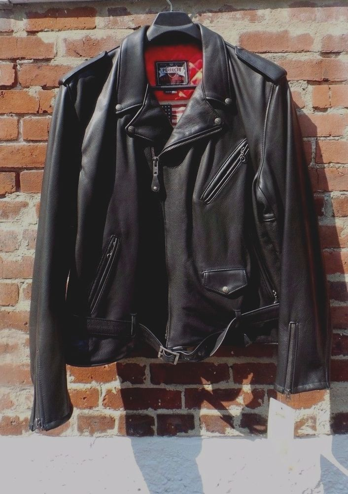 4980d3e69fa Schott Nyc Perfecto SZ 4XL Per-13 leather motorcycle Jacket RARE MADE IN USA  NWT (eBay Link)