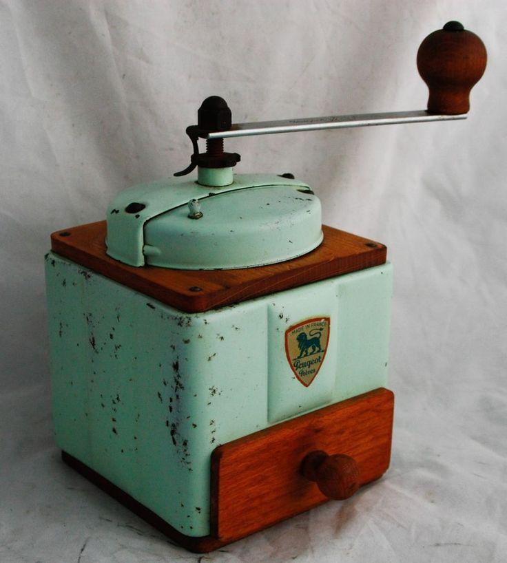 Vintage PEUGEOT FRERES Coffee Grinder Mill, French, Hand Crank Grinder #PeugeotFreres