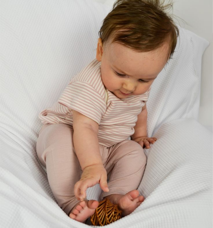organic cotton baby tee available in brown/natural pink/natural and plain natural $19.90