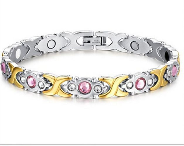 Aaa Trendy Women's Infrared Protect From Radiationtitanium Steel Health Bracelet