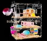 Acrylic box manufacturer customize lovebird cage cool hamster cages for sale PCK-093