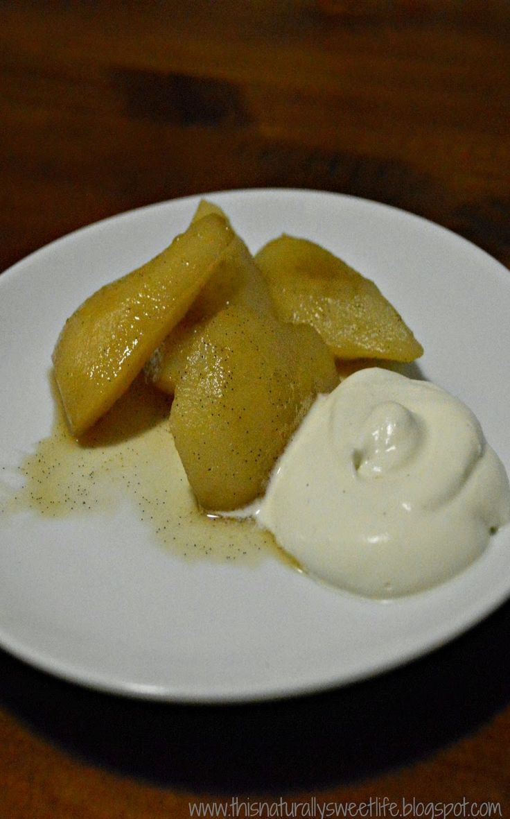 Vanilla Cinnamon Poached Pears - Refined Sugar and Gluten Free from www.thisnaturallysweetlife.blogspot.com