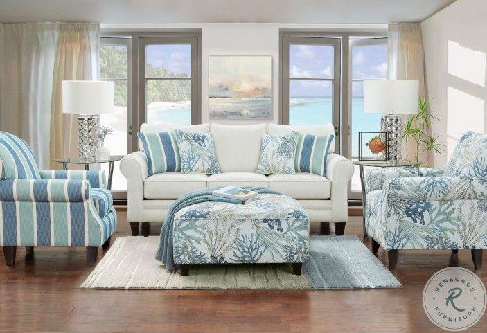Grande Glacier Living Room Set In 2021 Coastal Living Room Furniture Beachy Living Room Beach Living Room
