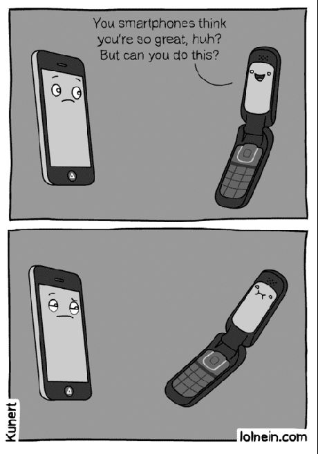 ...to all of us still living in flip phone land!