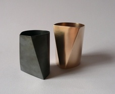 Silversmithing pieces by Malin Winberg, I love their simplicity and the combination of lines and curves.