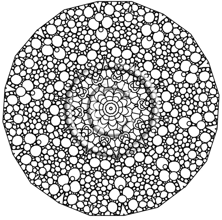 circle abstract coloring pages - photo#11