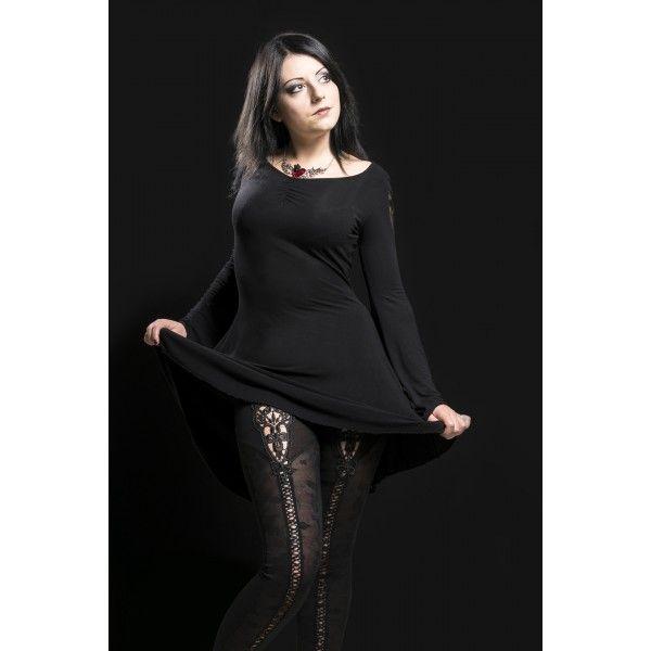 La Tunique Gothique Romantique Black Butterfly de la marque punk rave et le superbe leggings Mephisto. Une tenue très chic, sexy et raffinée! #Vetement #Goth #Gothic #Legging